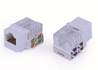 White Network Keystone Jack RJ45 Cat5e , UTP Keystone Jack 8P8C 90 Degree
