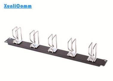 OEM Rack Mounted Cable Management , 19 Rack Cable Management Bar 5 Rings